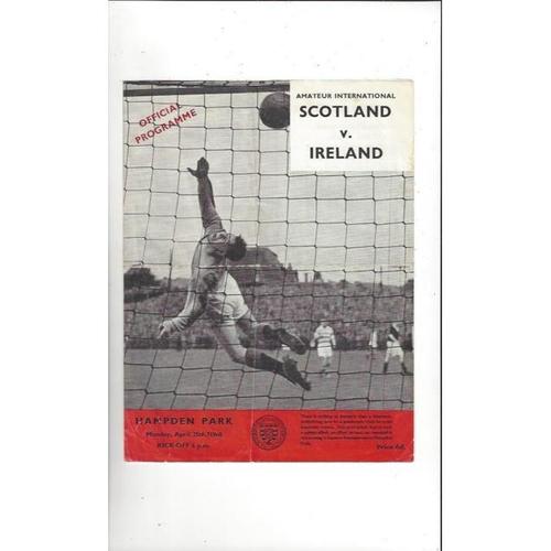 1960 Scotland v Ireland Amateur International Football Programme