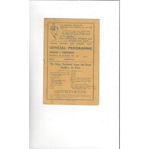 Irish League & Cup Football Programmes