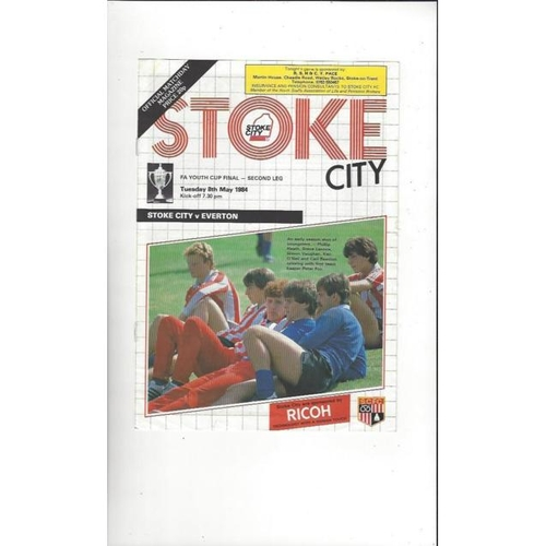 1984 Stoke City v Everton FA Youth Cup Final Football Programme