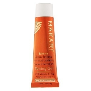 Makari Extreme Carrot & Argan Oil Facial Toning Gel 1.0oz – Lightening, Brightening & Tightening Gel with Organiclarine Whitening & Anti-Aging Treatment for Dark Spots, Acne Scars & Wrinkles