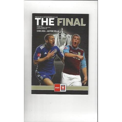 2010 Chelsea v Aston Villa FA Youth Cup Final Football Programme