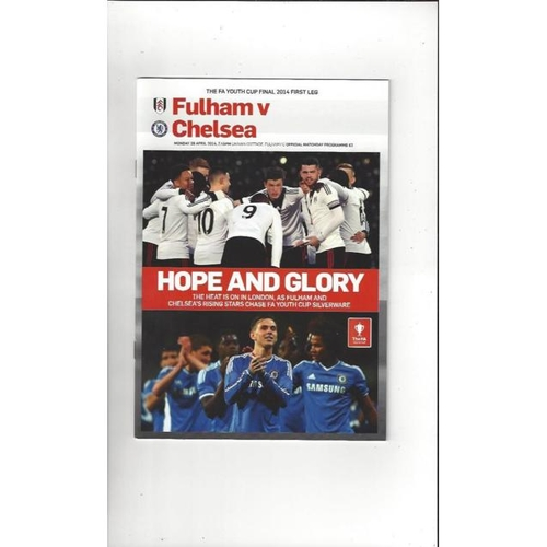 2014 Fulham v Chelsea FA Youth Cup Final Football Programme