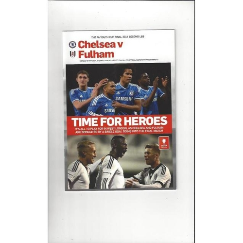 2014 Chelsea v Fulham FA Youth Cup Final Football Programme