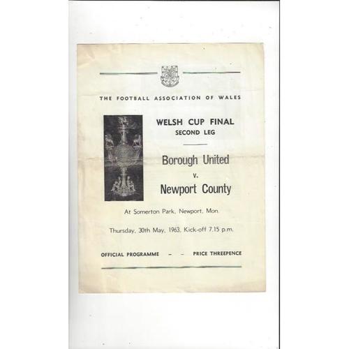 Welsh Cup Final Football Programme