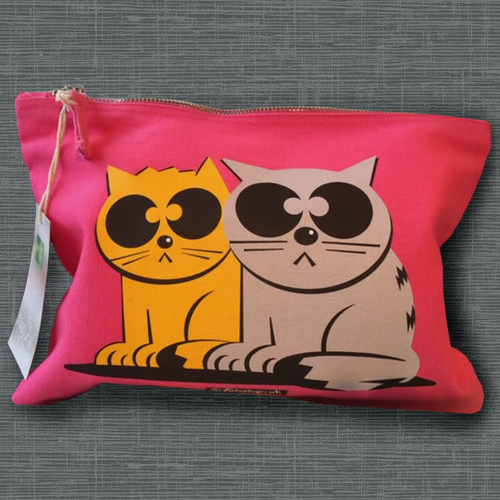'Two Cats' Accessory Bag