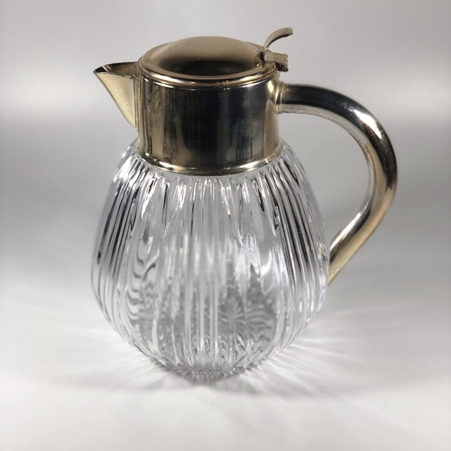 Silver plated and crystal cooling jug