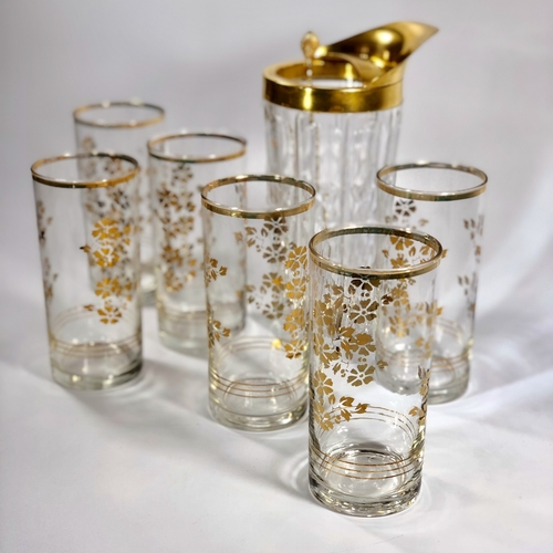 Gold plated Val Saint Lambert cocktail jug