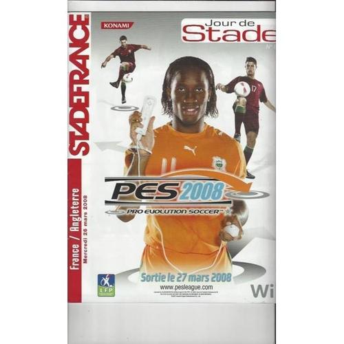 2008 France v England Football Programme Stadium Edition