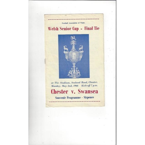 1966 Chester v Swansea Welsh Cup Final Replay Football Programme May