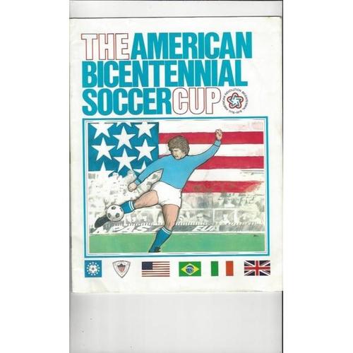 1976 USA v England American Bicentennial Cup Football Programme