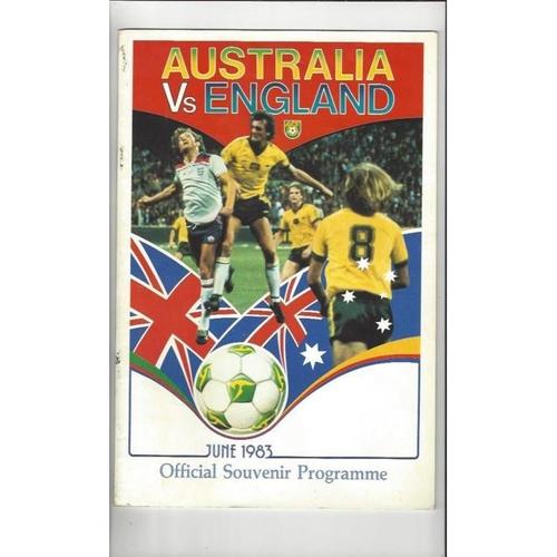 1983 Australia v England Football Programme
