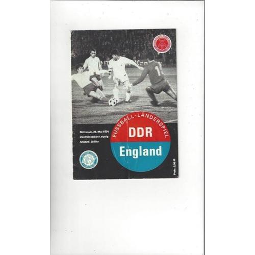 1974 East Germany v England Football Programme