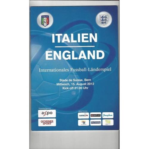2012 Italy v England Football Programme