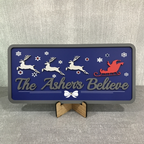 """"""" BELIEVE """" Christmas Sign"""