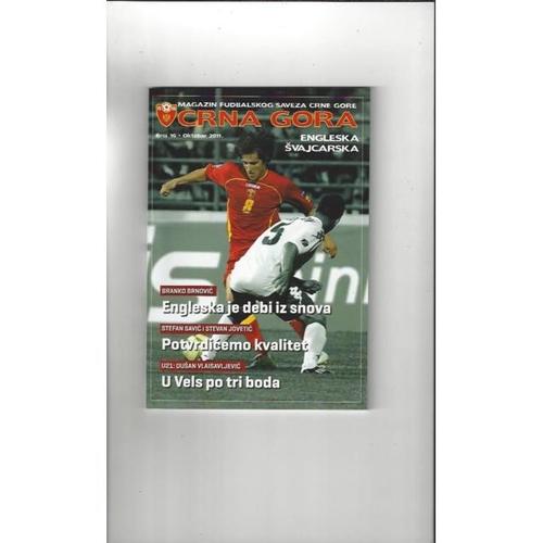 2011 Montenegro v England Football Programme + Three Lions Fanzine