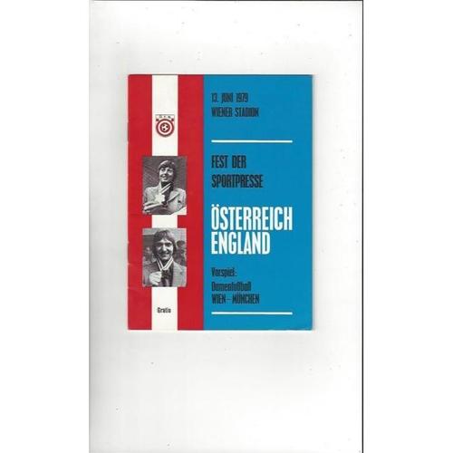 1979 Austria v England Football Programme