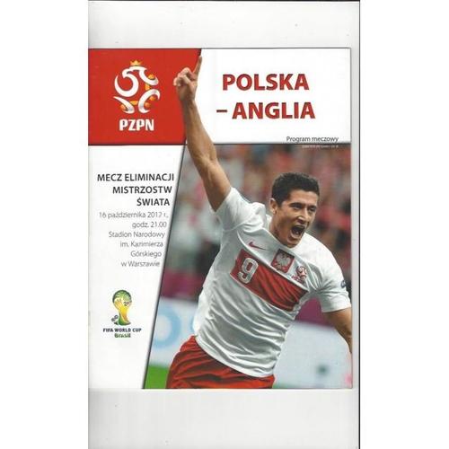 2012 Poland v England Football Programme + Three Lions Fanzine
