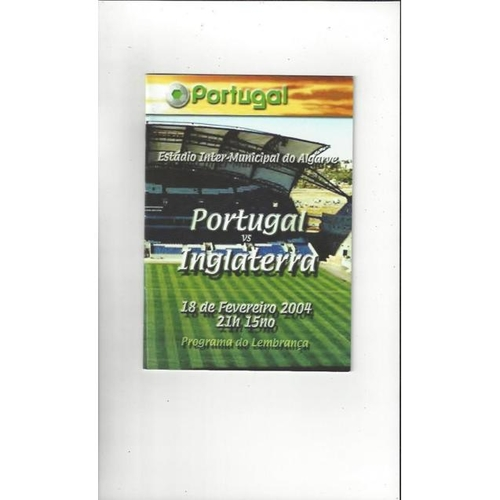 2004 Portugal v England Football Programme Souvenir Edition