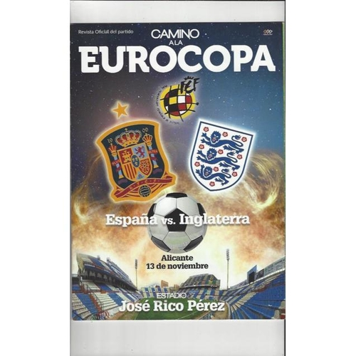 2015 Spain v England Football Programme