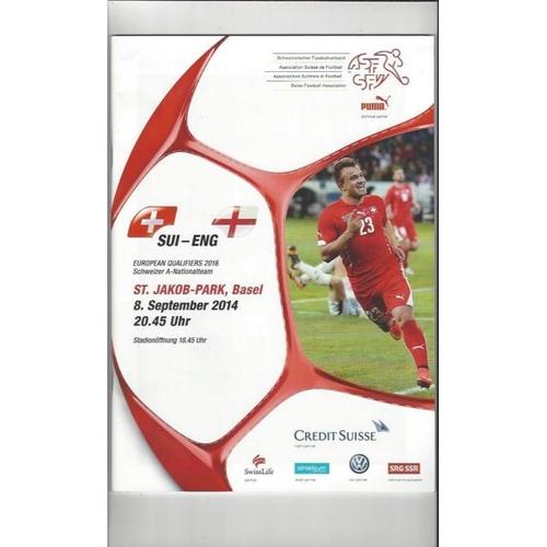 2014 Switzerland v England Football Programme + Three Lions Fanzine
