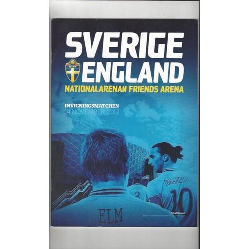 2012 Sweden v England Football Programme + Three Lions Fanzine