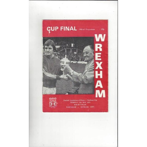 Welsh Cup Final Football Programme