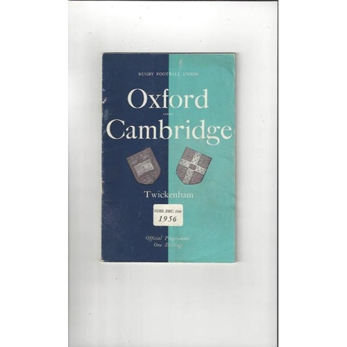 1956 Oxford v Cambridge Rugby Union Programme