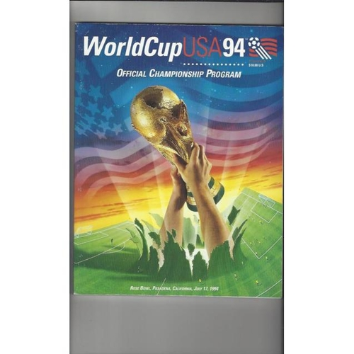 1994 World Cup Final Football Programme Brazil v Italy