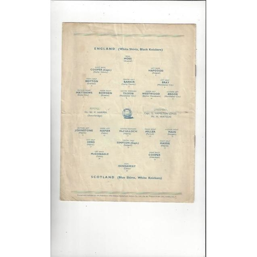 1934 English League v Scottish League Football Programme @ Chelsea