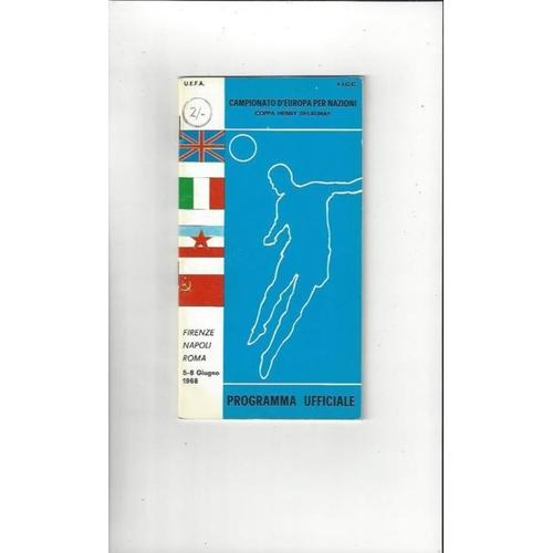 1968 European Championship Official Tournament Football Programme