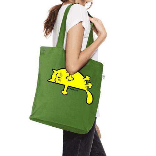 'Yellow Sleepy Cat' Shopper