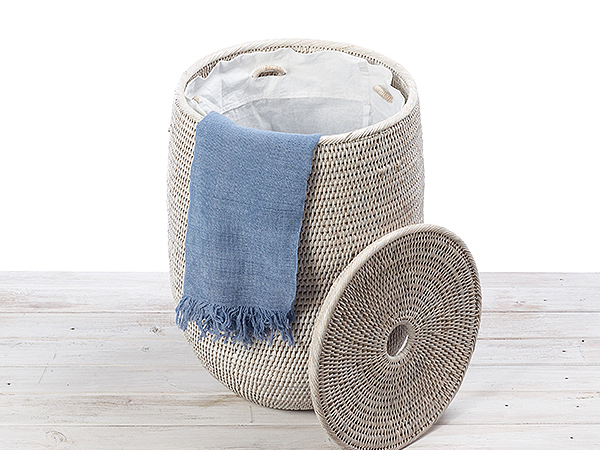 Tala Palm  laundry basket with cotton liner