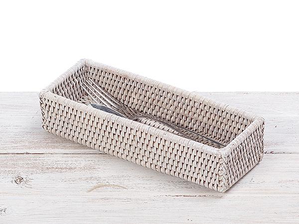 Rattan Cutlery Case/Basket