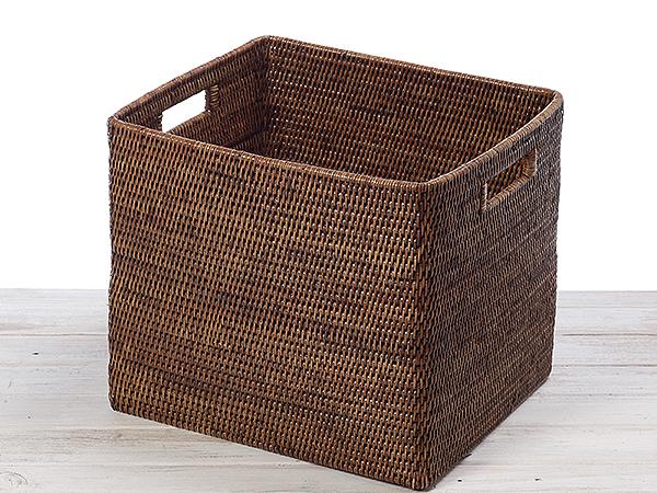 Rattan Tall Drawer Basket - L32cmX W27cm X H32cm Hand Woven in Burma