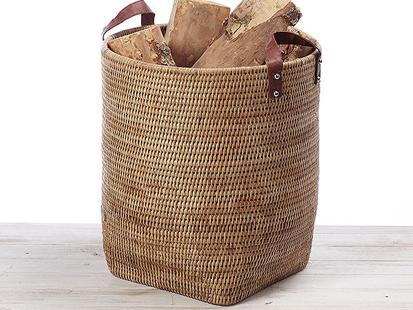 Tall Veg Carrier with Leather Handle