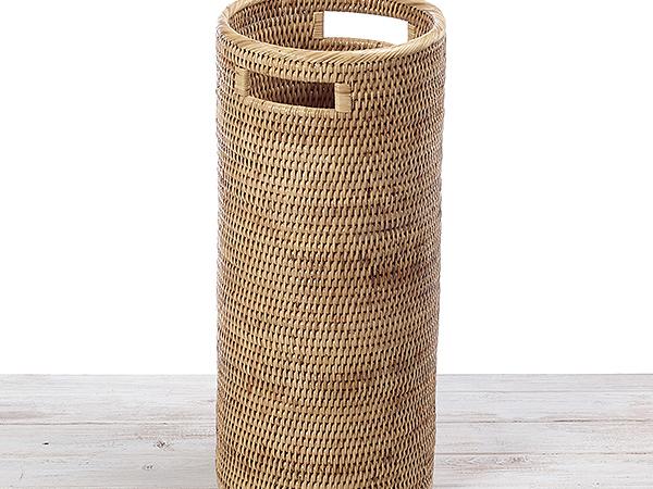 Round Rattan Umbrella Basket- D24  x H54 cm