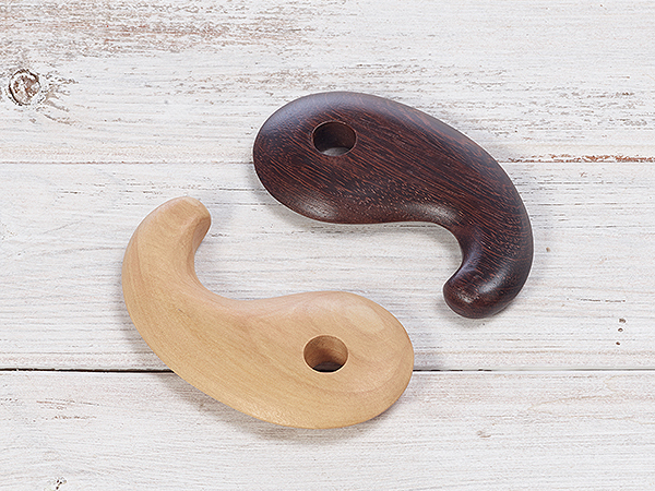 URU Handturned Set of Cassa Wooden Massage Tool