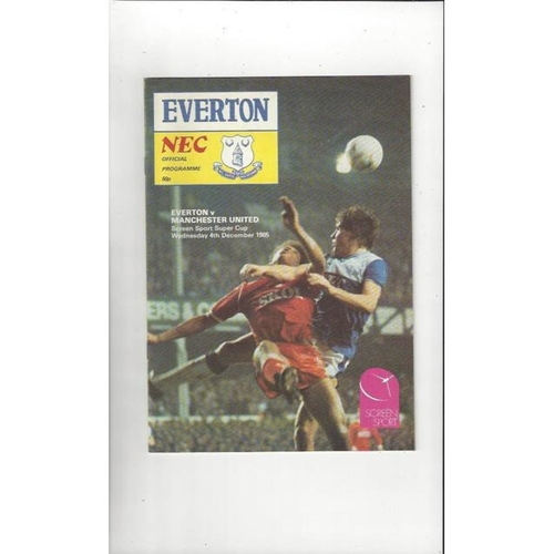 Everton v Manchester United Super Cup Football Programme 1985/86