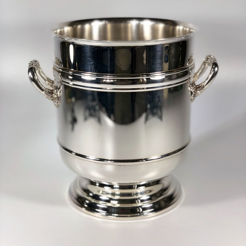 Christofle silver plated champagne wine bucket cooler