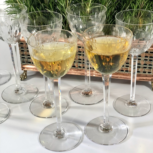 Baccarat tall stem crystal wine glasses
