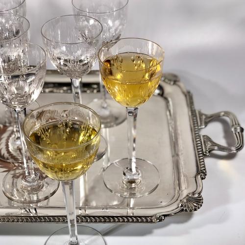 Baccarat tall stem crystal wine glasses
