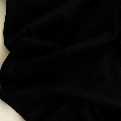 Black 4.5 Wale Washed Corduroy