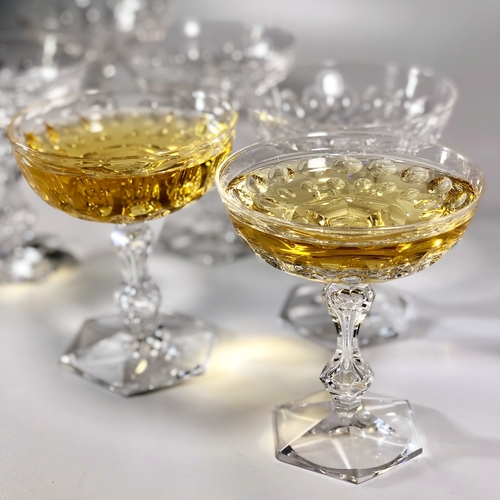 Val Saint Lambert crystal champagne coupes