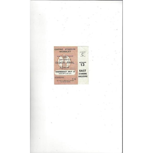 1966 World Cup 13th July Match Ticket @ Wembley