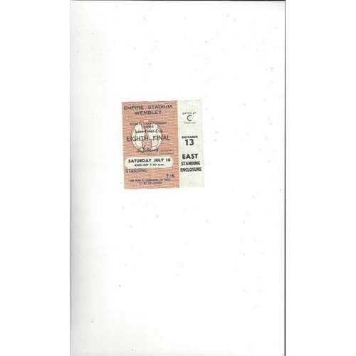 1966 World Cup 16th July Match Ticket @ Wembley