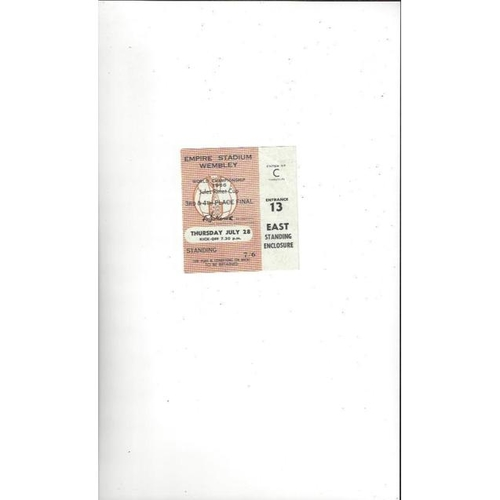 1966 World Cup 28th July 3rd & 4th Place Match Ticket @ Wembley