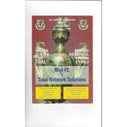 2004 Rhyl v Total Network Solutions Welsh Cup Final Football Programme
