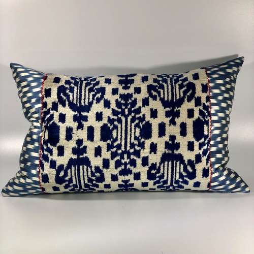 Large Turkish velvet cushion by Rifat Osbek