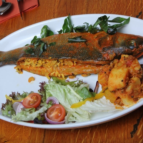 Whole Sea Bass Masala Grilled-Full Meal