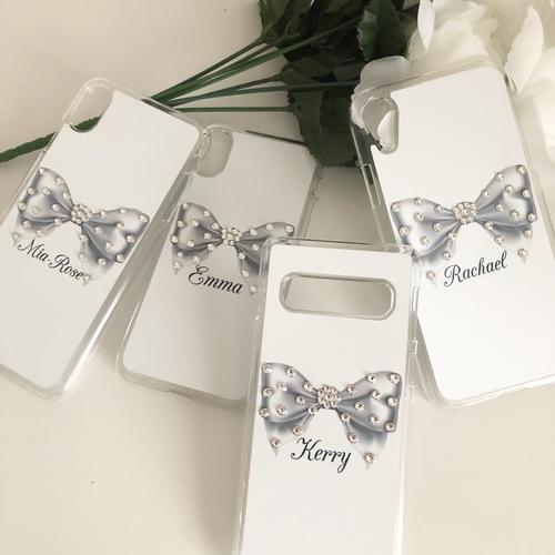 Swarovski Crystal Bow Personalised Phone Case